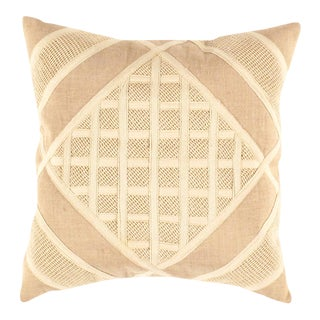 Beige Color Pure Cotton Pillow Cover For Sale