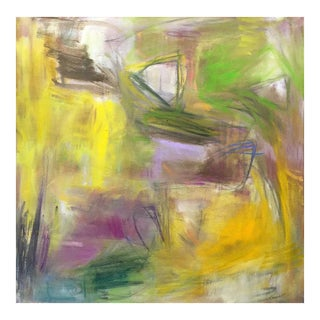 "Large Abstract Painting by Trixie Pitts ""Lazy Sunday"""