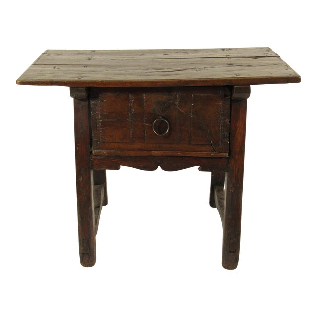 17th C. Spanish Side Table For Sale