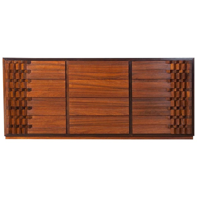 Luciano Frigerio Chest of Drawers in Walnut For Sale