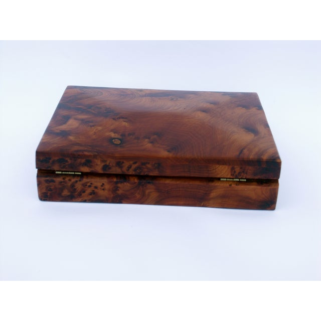 Decorative Juniper Burl Wood Box - Image 8 of 8