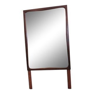1960s Mid-Century Modern American of Martinsville Danish Walnut Mirror For Sale