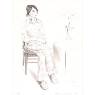 1974 David Hockney 'Yves Marie' Pop Art Gray,Neutral United Kingdom Lithograph For Sale
