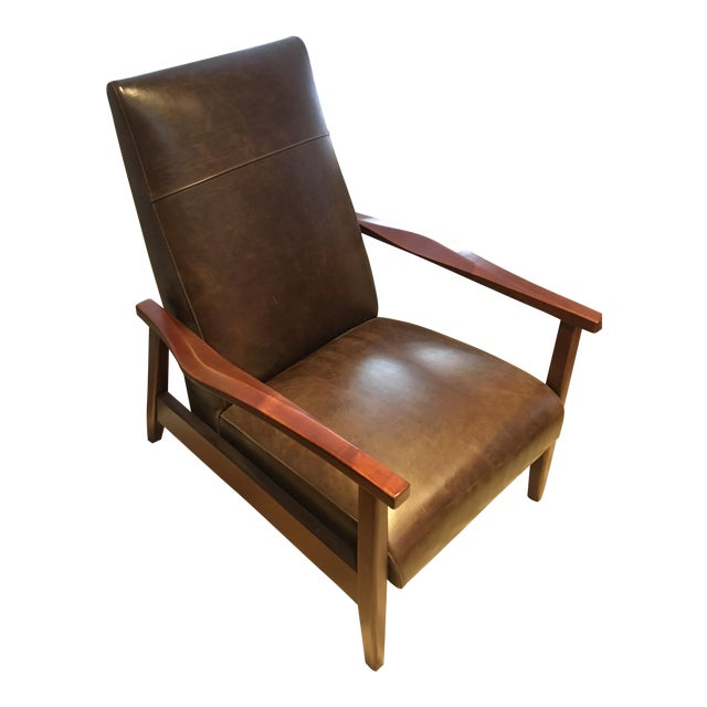 Arhaus Wordsmith Leather Recliner For Sale