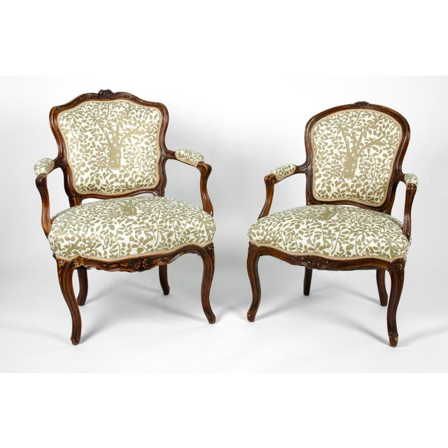 French Early 19th Century Louis XVI Side Armchairs - a Pair For Sale - Image 3 of 13