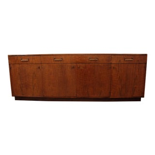 Mid-Century Danish Modern Milo Baughman Founders Walnut Credenza For Sale