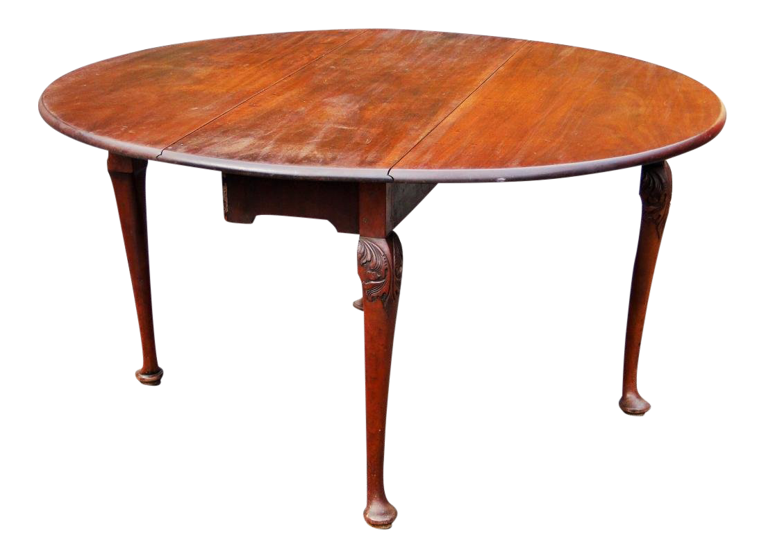 Mid 18th Century Antique Queen Anne Mahogany Dining Table