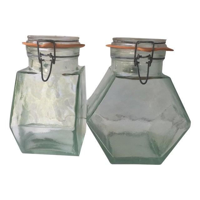Vintage Hermetic Glass Jars - A Pair - Image 1 of 5
