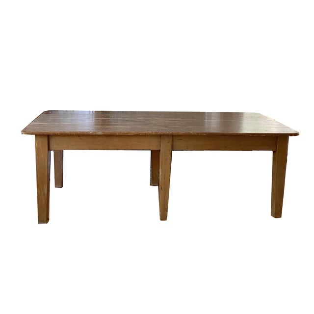 Beautiful 19th Century French Provincial Farm table. Solid taper legs. Burnished finish for goreoous patina. This piece...