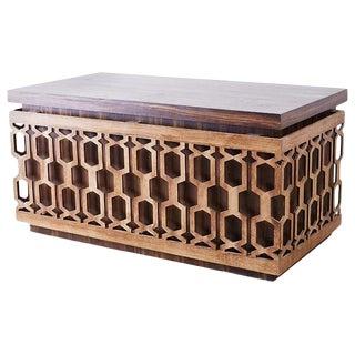 Mid-Century Geometric Johnny Carson Style Desk For Sale