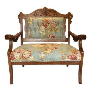 Antique East Lake Victorian Settee For Sale