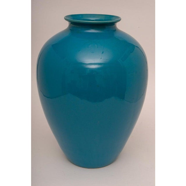 Mid-20th Century Peking Blue Vase in Glazed Pottery, Italy For Sale In West Palm - Image 6 of 6