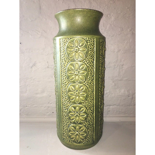 Mid-Century Modern 1960's Vintage West German Pottery Vase For Sale - Image 3 of 8