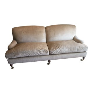 Brunschwig & Fils English Taupe & Gold Sofa