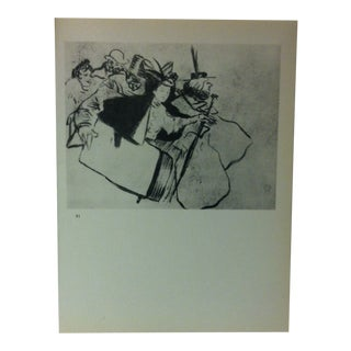 """Circa 1980 """"Midinettes 1896"""" Print of a Toulouse-Lautrec Drawing For Sale"""