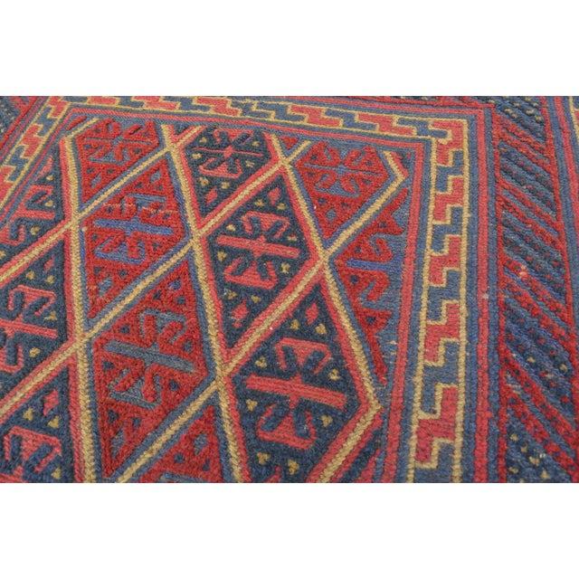 "Islamic Vintage Tribal Turkish Kilim Rug - 3'7"" x 4' For Sale - Image 3 of 5"