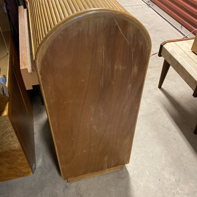 1980s Monumental Split Reed/Bamboo Writing Table or Desk For Sale - Image 13 of 13