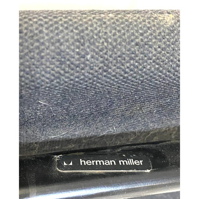 Marvelous Peter Protzman for Herman Miller Chrome Black Fabric Chairs - a Pair For Sale - Image 12 of 13