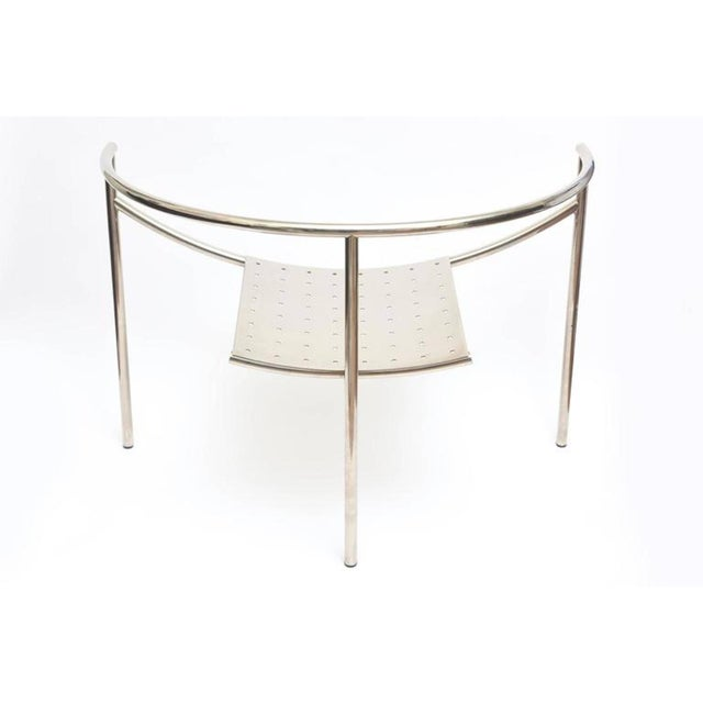 Vintage Mid Century Philippe Starck Doctor Sonderbar Chrome Chair For Sale - Image 9 of 10