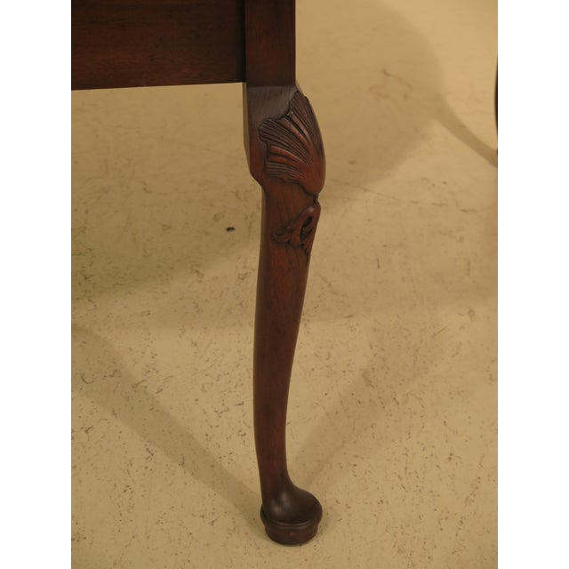 1960s 1960s Queen Anne Kittinger Colonial Williamsburg Mahogany Drop Leaf Table For Sale - Image 5 of 12