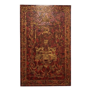 "Medieval Style ""Coat of Arms"" Red Gold Leaf Wall Panel"