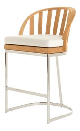Image of Wood Outdoor Bar Stools