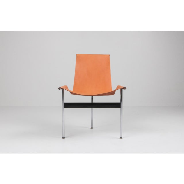 Katavolos, Kelley and Littell T-Chairs in Original Cognac Leather - 1970s For Sale - Image 9 of 10