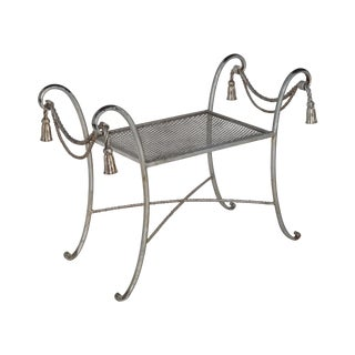 Regency Style Metal Bench For Sale