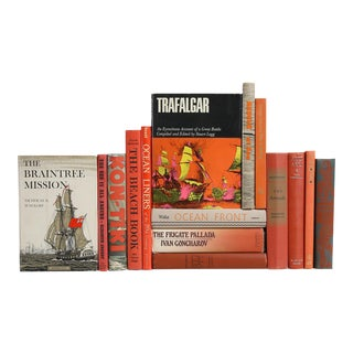 Midcentury Nautical Books - Set of 15 Decorative Books