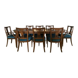 Henredon Dining Table With Chairs - Set of 9