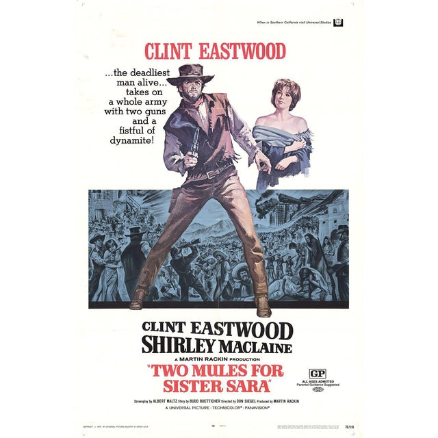 1970 Two Mules for Sister Sara Poster - Image 1 of 3