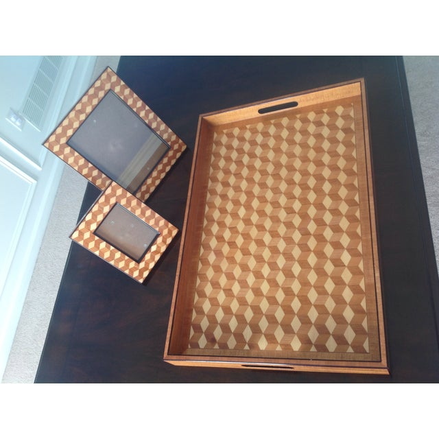 Williams Sonoma Home, Tray & Photo Frames - 3 - Image 3 of 10