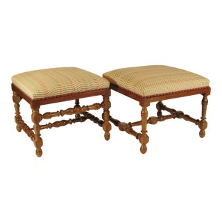 Late 19th Century Vintage Baroque Style Benches- A Pair For Sale