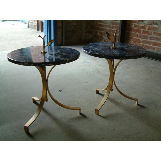 Contemporary 1998 United States Maurice Beane Studios Twig Leaf Tables - Pair For Sale - Image 3 of 9