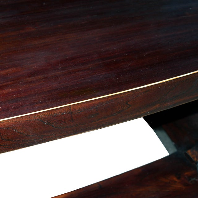 Elm Wood Coffee Table For Sale - Image 4 of 4