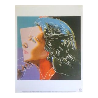 "Andy Warhol Estate Vintage 1989 Rare Collector's Lithograph Print ""Ingrid Bergman"""