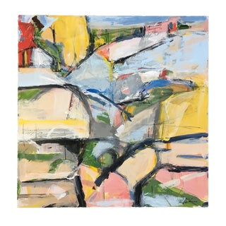 Horse Field Abstract Painting For Sale