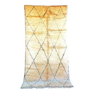 "Beni Ourain Vintage Moroccan Rug, 6'1"" x 12'8"" feet"