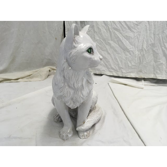 Italian Terracotta Cat Figure For Sale In Atlanta - Image 6 of 10