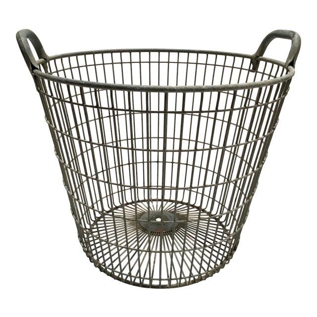 Vintage Belgian Metal Potato Basket - Image 1 of 6