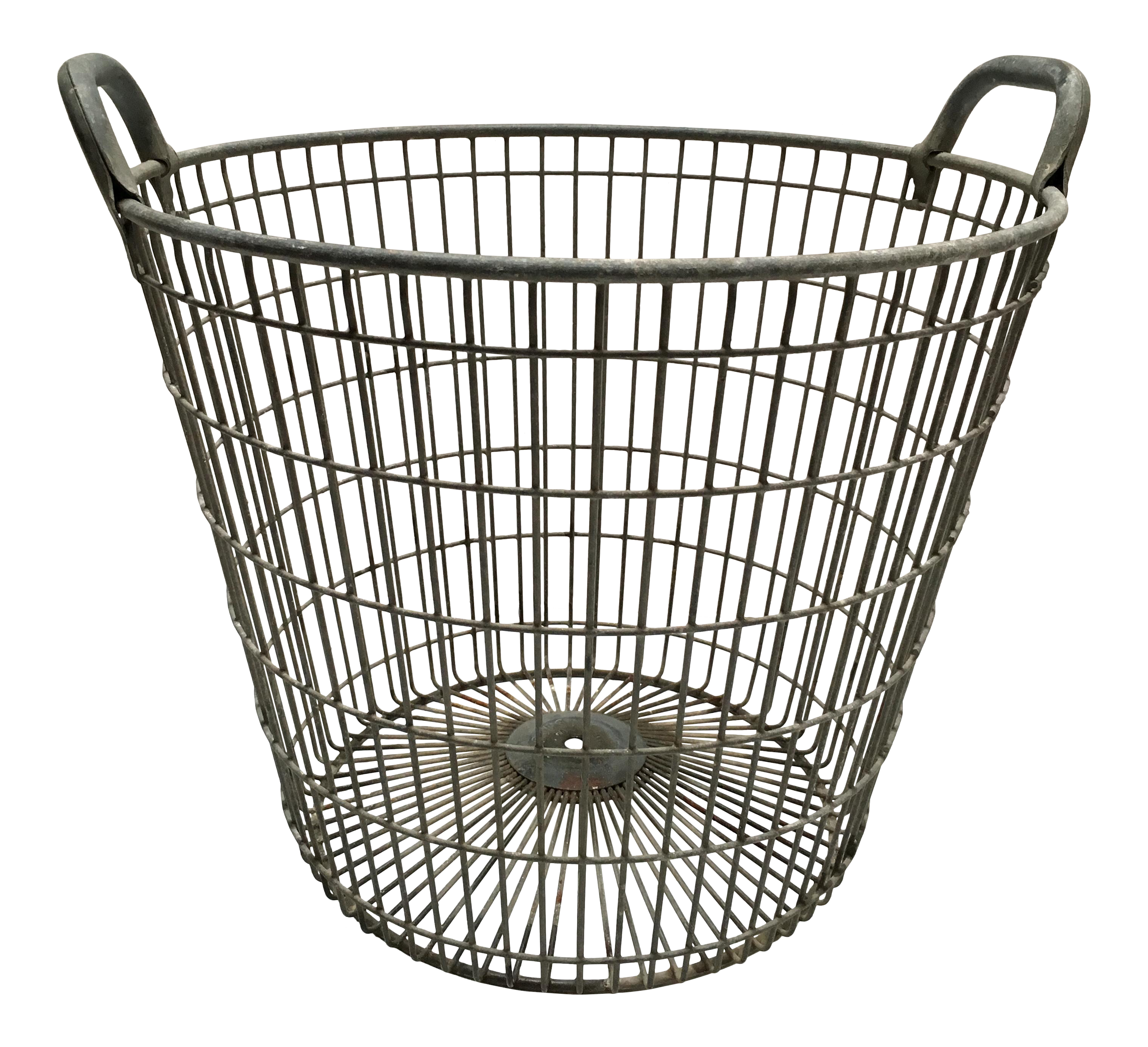 Vintage Belgian Metal Potato Basket