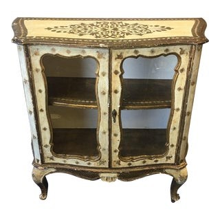 1940s Vintage Florentine Cabinet / Commode For Sale
