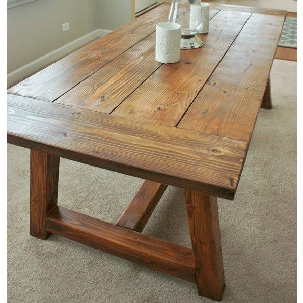 Rustic Farmhouse Dining Table - Image 2 of 5