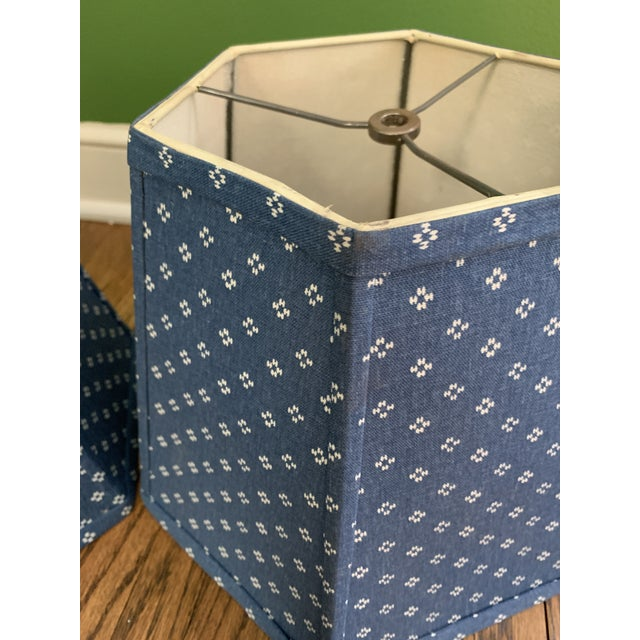 Boho Chic Printed Fabric Lampshades Shades- a Pair For Sale - Image 3 of 8