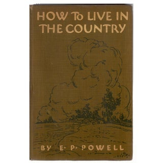 How to Live in the Country Book For Sale