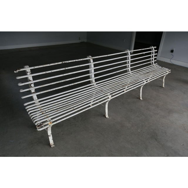 Metal French Iron Bench For Sale - Image 7 of 10
