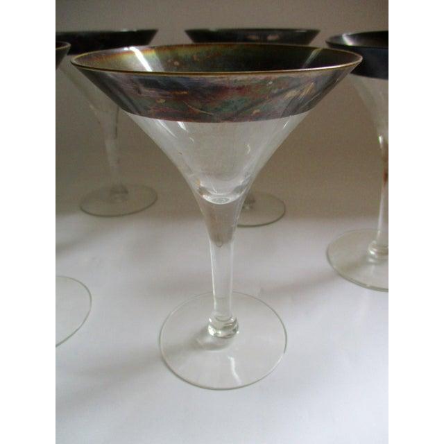 Dorothy Thorpe Silver Rim Champagne Glasses - Set of 6 - Image 9 of 10