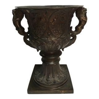 Vintage Bronze Garden Urn For Sale