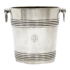 1930s Christofle Steam Liner Ice Bucket For Sale