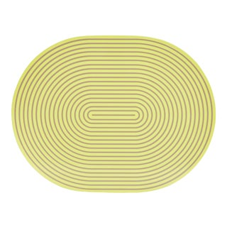Yellow Gray Lacquer Placemat For Sale